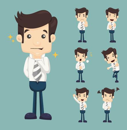 masculino: Conjunto de caracteres de negocios poses Vectores