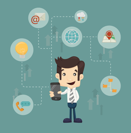 tecnologia comunicacion: Tecnolog�a de la comunicaci�n del hombre de negocios
