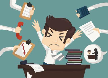 kemény: Üzletember keményen dolgozik, és elfoglalt