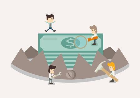 bear trap: Money in trap   Illustration