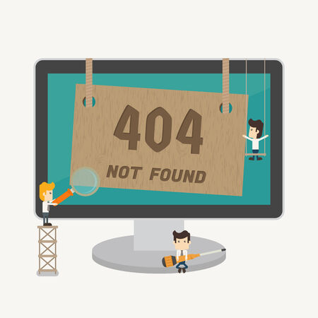 Page not found, 404 error , eps10 vector format Vector