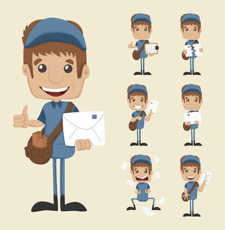 Set of postman Vector