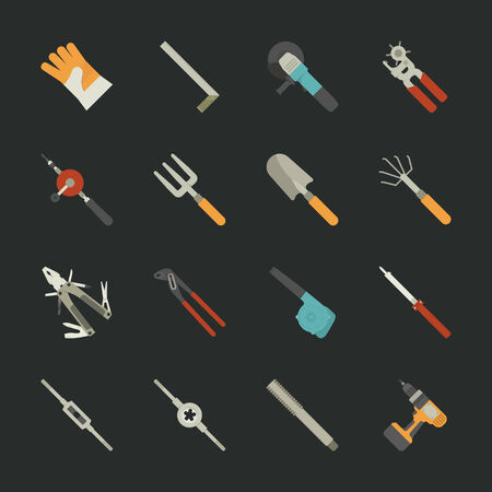 soldering: Hand tools icon set  Illustration