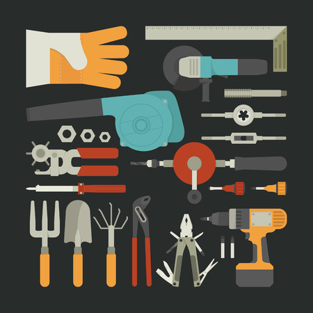 soldering: Hand tools icon set