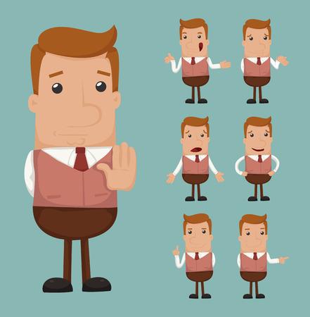 Set of businessman emotion  Ilustração