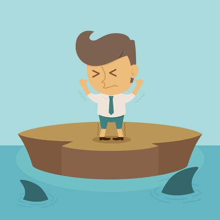 confused man: Businessman crisis