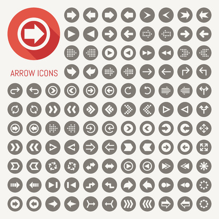 arrow sign icons with black background Vector