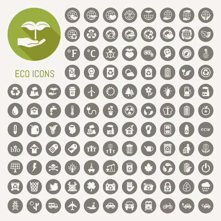 ecology icons set Vector