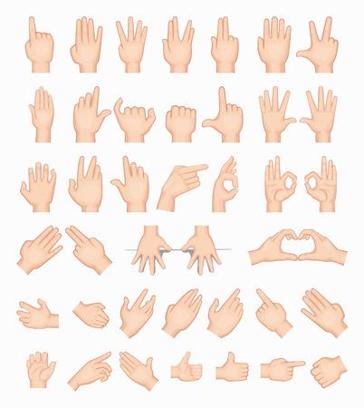 alzando la mano: Collage de las manos, en formato vectorial eps10