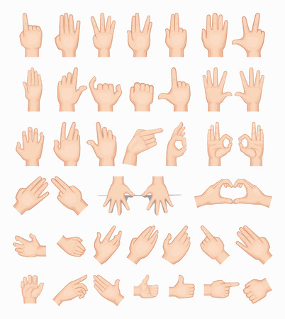 hand showing thumbs up: Collage of  hands , eps10 vector format