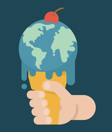 overheat: Global Warming , eps10 vector format