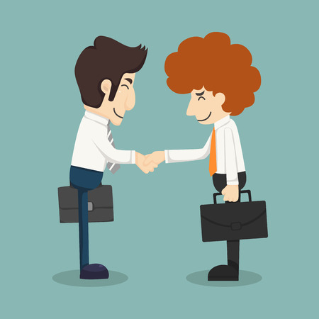 Businessmen handshake making a deal Vector
