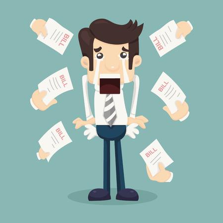 empty pocket: Businessman no money