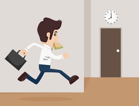 clockwise: Businessman urgent