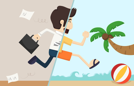 cartoon money: Businessman relax    Illustration
