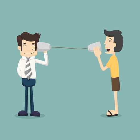 communication metaphor: Customer feedback    Illustration