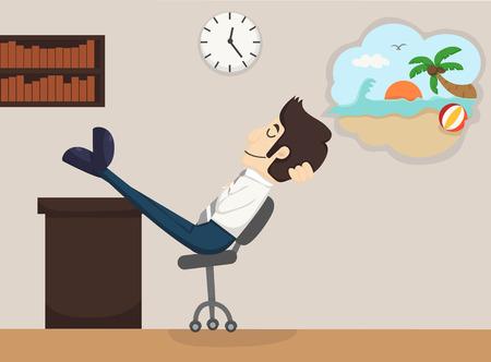 Businessman relax dream    Stock Vector - 30643227