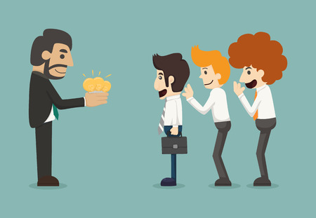 Businessman share idea    Vector