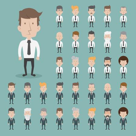 hombres ejecutivos: Conjunto de caracteres de negocios poses Vectores