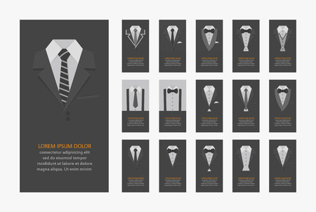black suit: Business cards