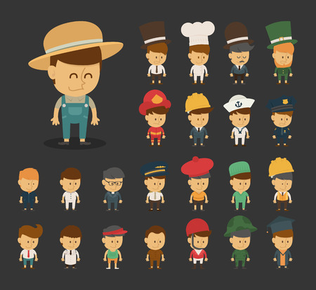 Group of professions cartoon characters , eps10 vector format Vector