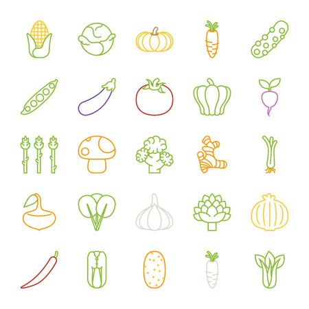 Vegetables  icons , flat design , eps10 vector format