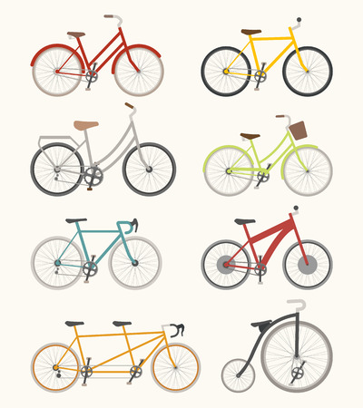 bicycle chain: Set of retro bicycle  , eps10 vector format Illustration