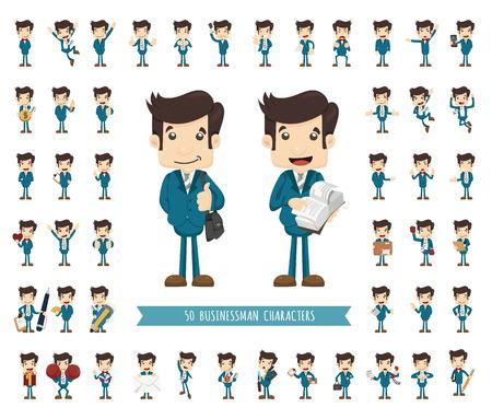 Set of businessman character , eps10 vector format Stock Illustratie