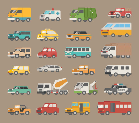 ambulancia: Conjunto de icono de coche, formato vectorial eps10
