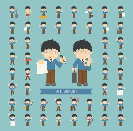 Set of businessman character Imagens - 36975426
