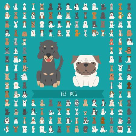 Set of dog character  Vector