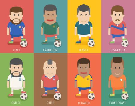 ecuador: Set of national soccer team uniform , football player