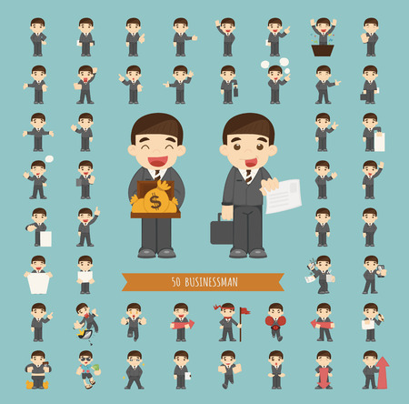 Set of businessman character , eps10 vector format Stock Vector - 38621862