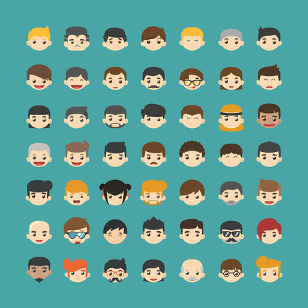 eps10 vector: Set of people icons  , eps10 vector format Illustration