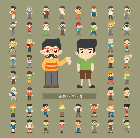 Set of men and women character , eps10 vector format