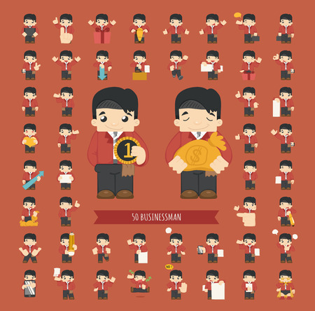 eps10 vector: Set of businessman character , eps10 vector format Illustration