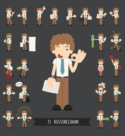 set of businessman: Set of businessman character , eps10 vector format Illustration
