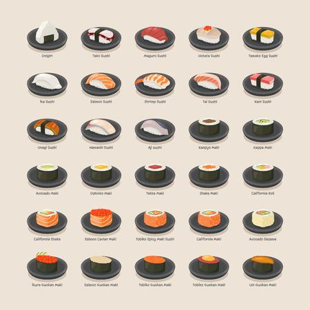 cangrejo caricatura: Formato establecido Sushi