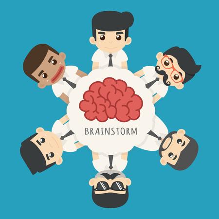 speak bubble: Businessman brainstorm , eps10 vector format
