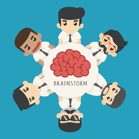 brainstorm: Businessman brainstorm , eps10 vector format