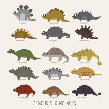 armoured: Set of Armoured dinosaurs