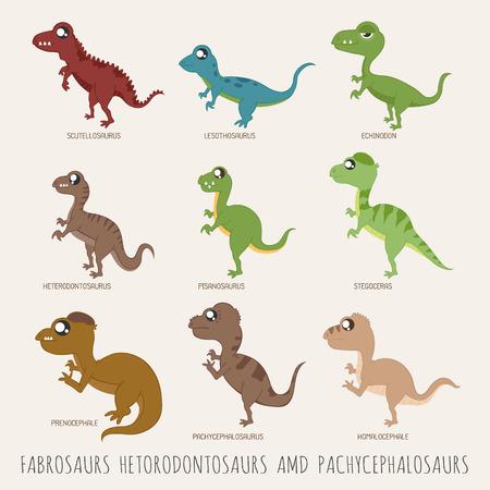 dinosauro: Set di dinosauri illustrazioni