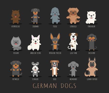 puppy: Set of german dogs Illustration