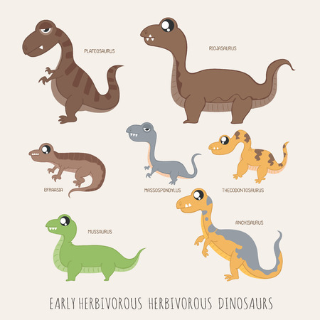 herbivorous: Set of Early herbivorous dinosaurs