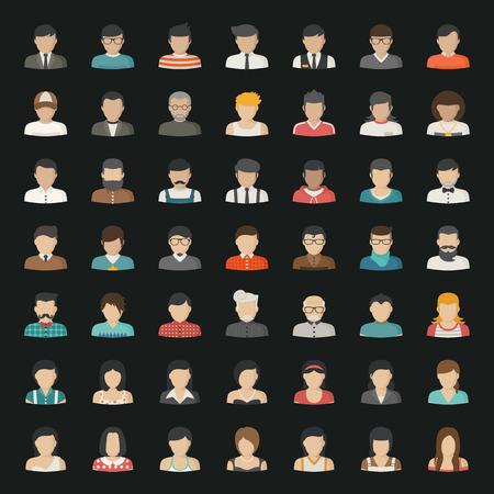 människor: Affärs ikoner och människor ikoner Illustration