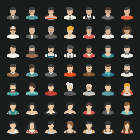 Business icons and people icons Illustration