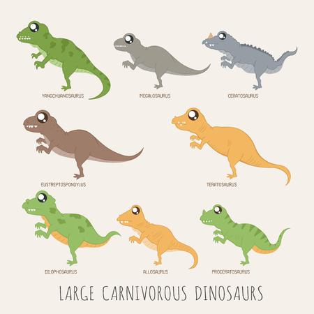 dinosaurio: Conjunto de grandes dinosaurios carnívoros