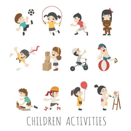 Activiteiten voor kinderen Stock Illustratie