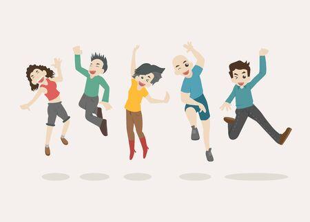 Teenage jumping