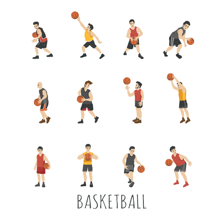 layup: Young Basketball player , eps10 vector format